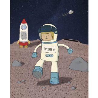 Astronaut boy on the moon!