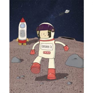 Astronaut girl on the moon!