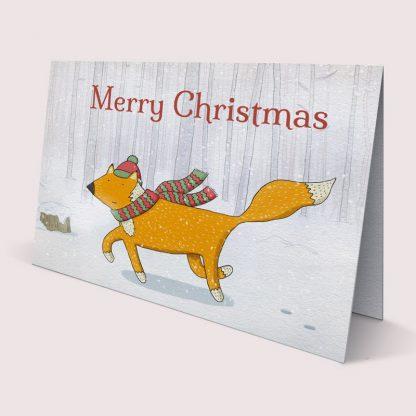 Merry Christmas card - Winter Fox